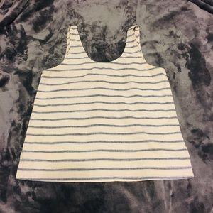 Madewell Linen Striped Tank Top